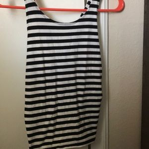 Abercrombie & Fitch Tops - Black and White Striped Crop Top